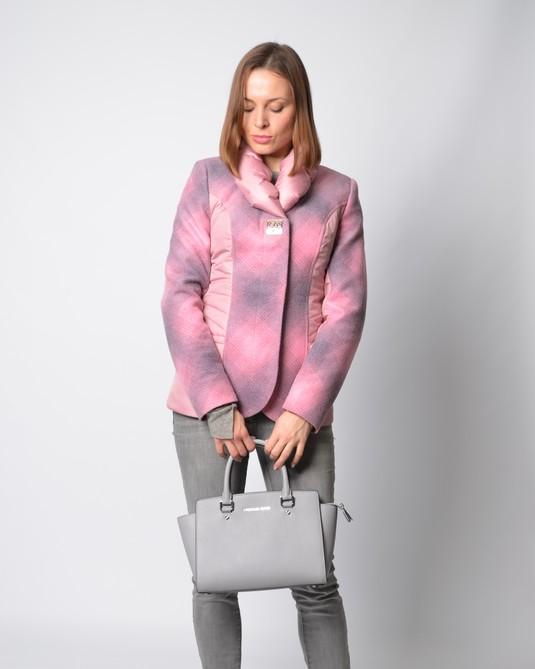 Жакет комбинированный розовый
