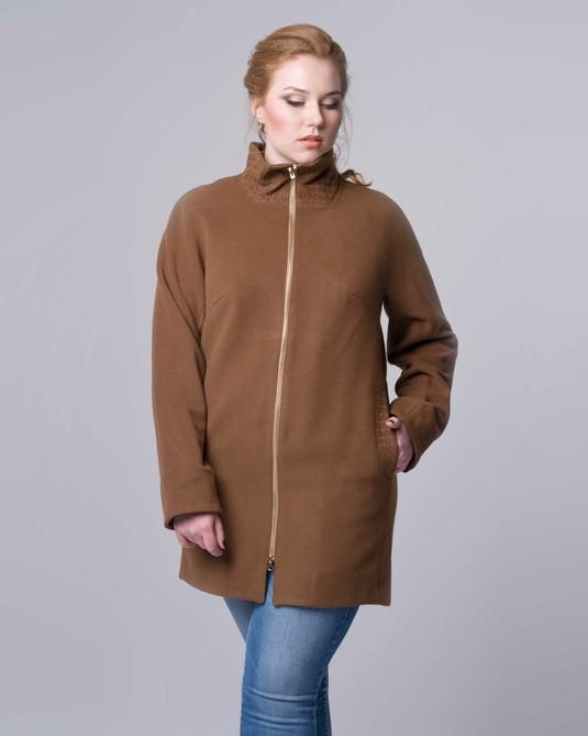 Пальто на молнии бронза