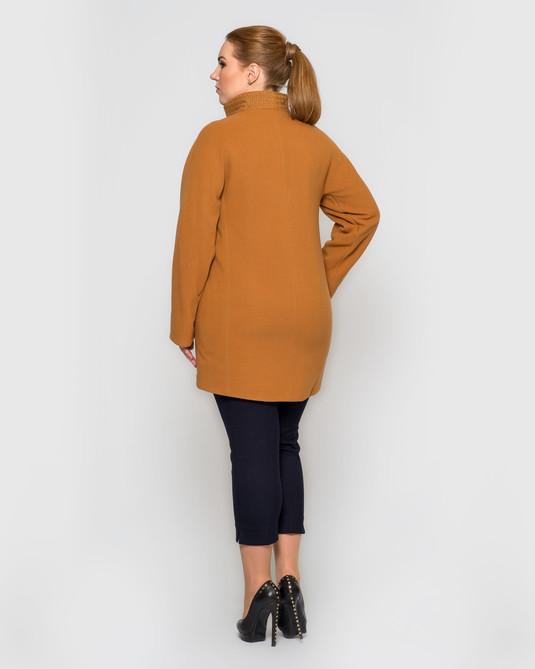 Пальто на молнии горчица