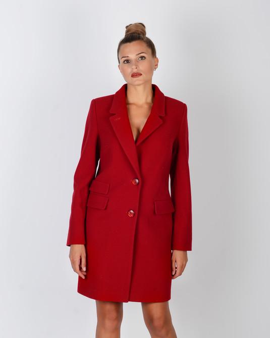 Пальто Честрефилд красный