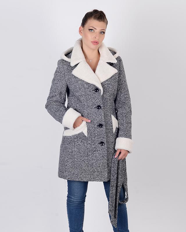 Пальто зимнее твид