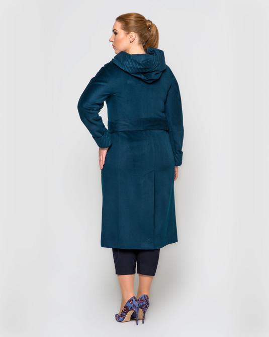 Пальто с капюшоном ботал мор-волна
