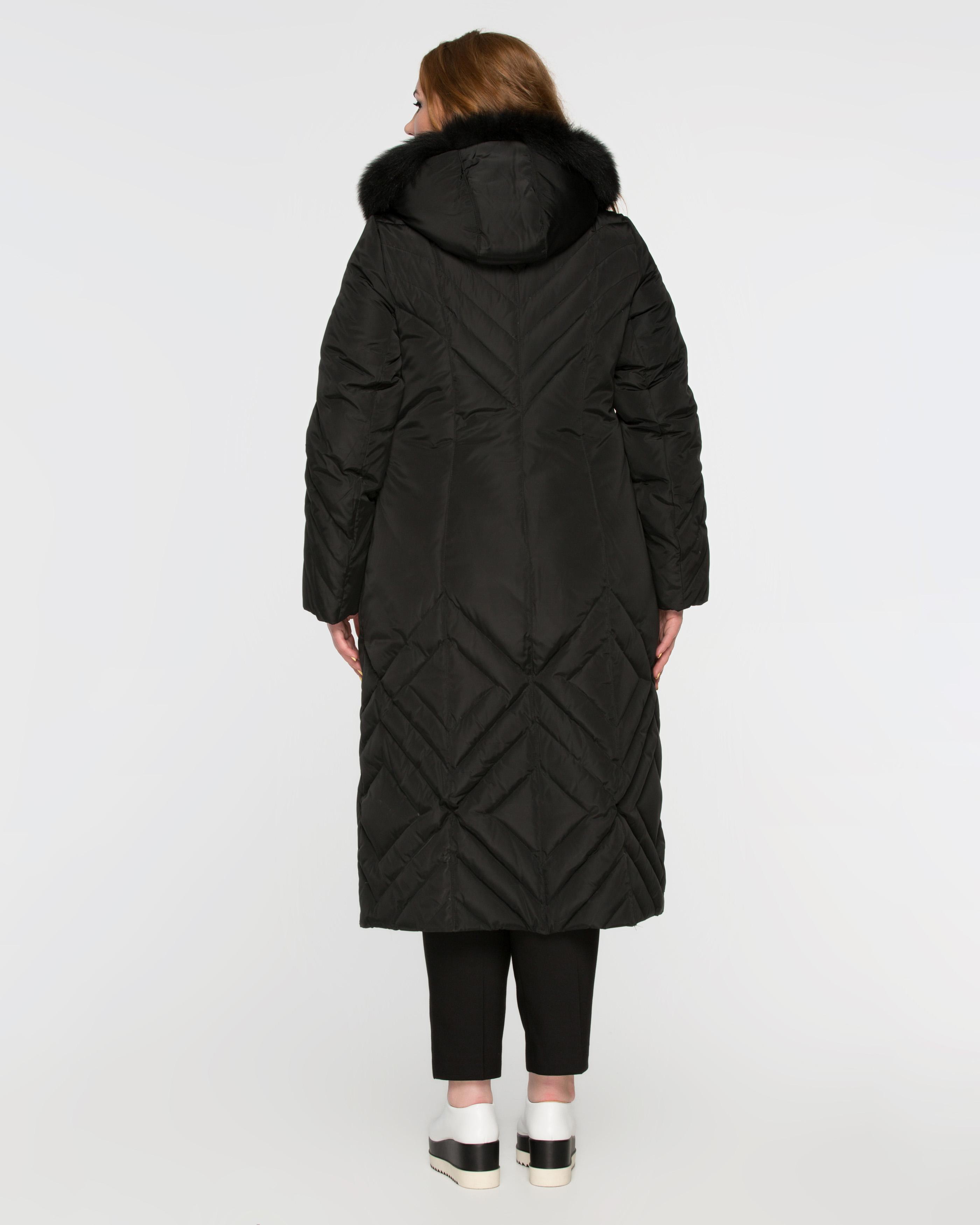 Длинное пальто на пуху