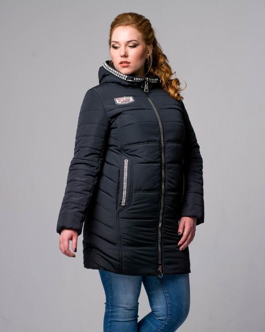 Куртка приталенная черная