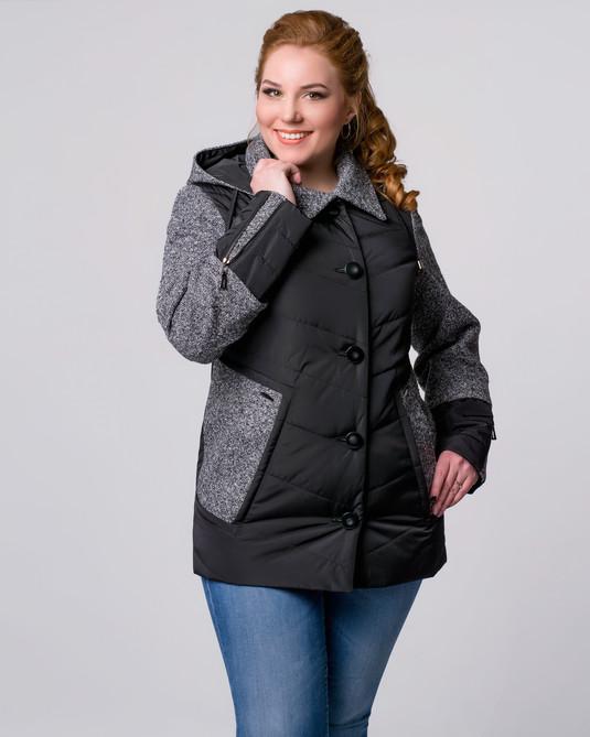 Куртка комбинированная черная