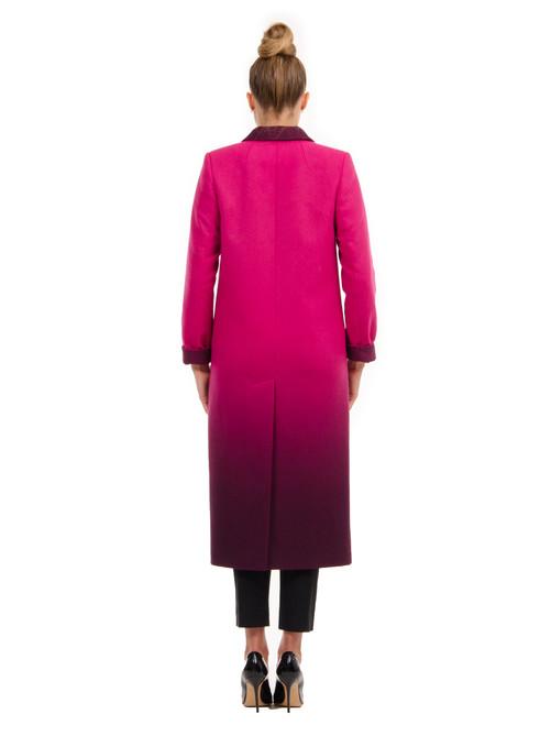 Пальто МАКСИ граде пурпурный