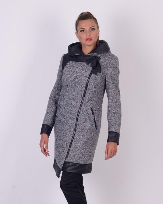 Пальто из вареной шерсти твид