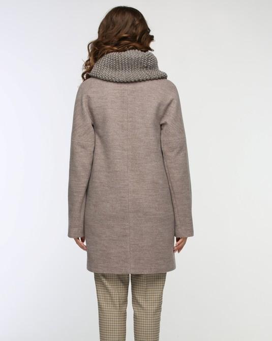 Пальто с хомутом капучино