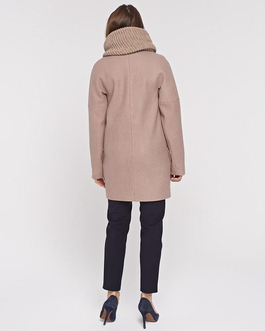 Пальто с хомутом Кэмел
