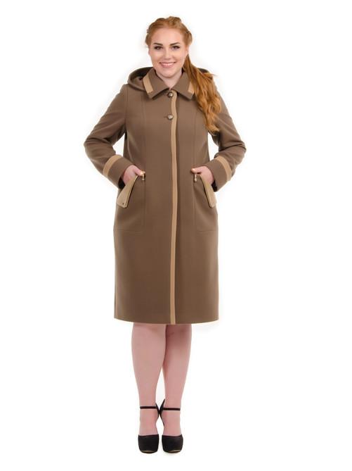 Пальто с кашюшоном съемным латте