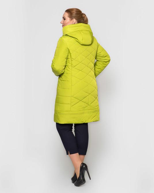 Куртка ботал с брошью лимон