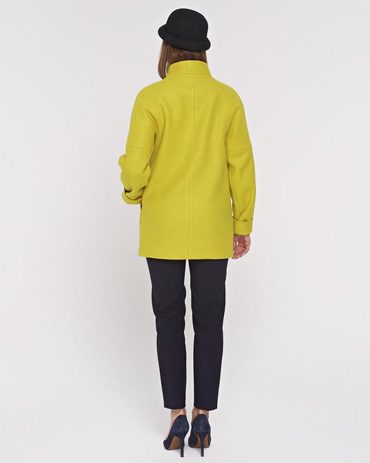 Полупальто реглан желтое