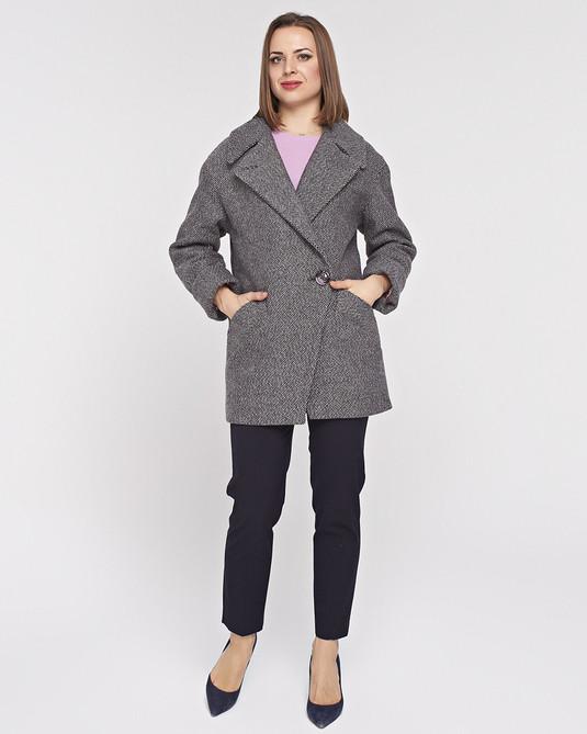 Пльто-Пиджак серо-розовое