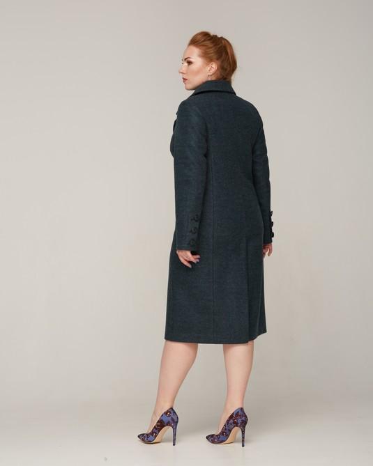 Пальто классика ботал темно-зеленый