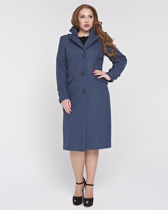 Пальто классика ботал синее