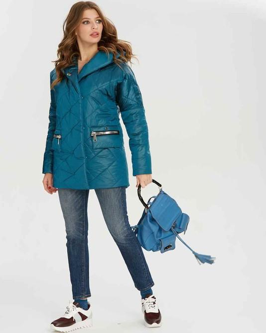 Куртка атлас с капюшоном изумруд