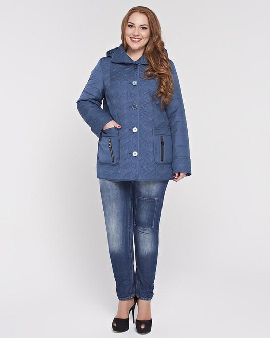 Куртка со съемным капюшоном мор-волна