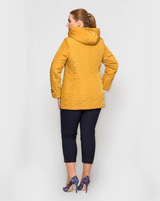Куртка со съемным капюшоном горчица