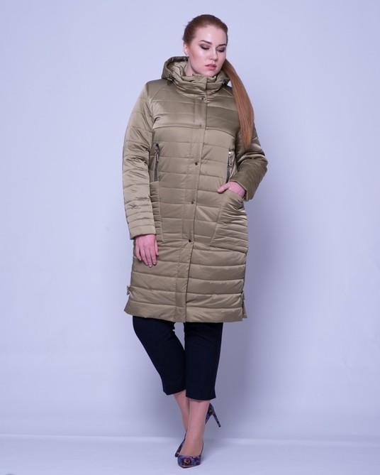 Куртка атлассная оливка