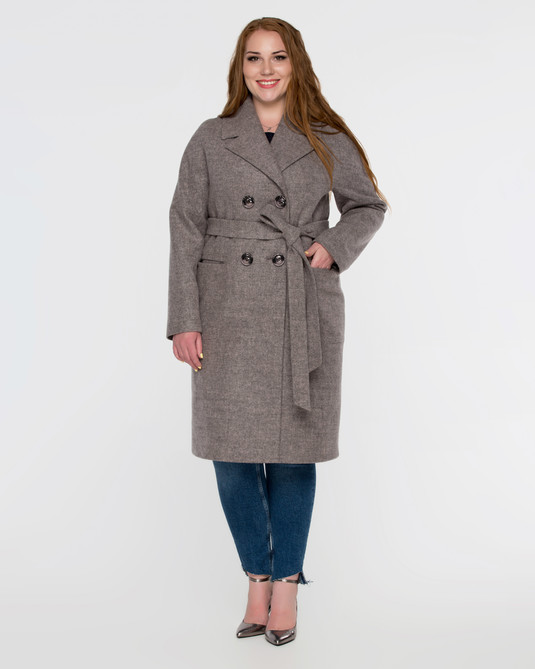 Пальто классика капучино