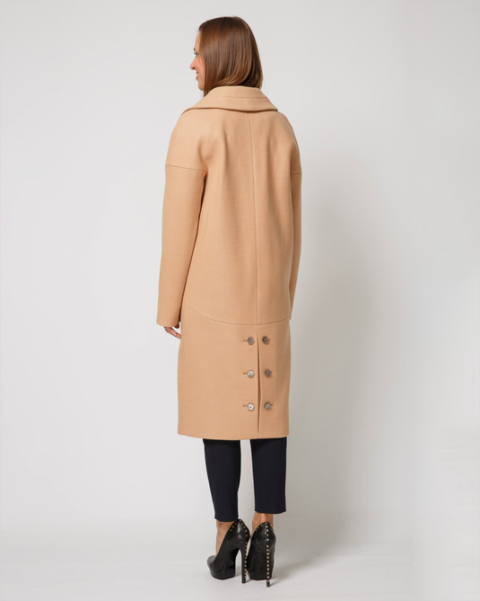 Пальто двубортное camel