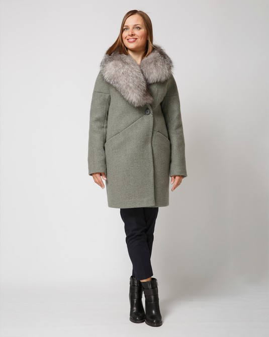 Зимнее пальто полынь