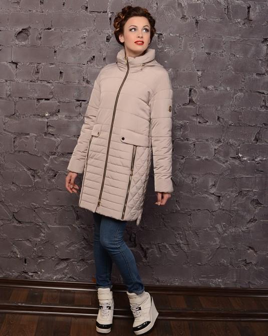 Куртка молодежная с капюшоном светлый-беж