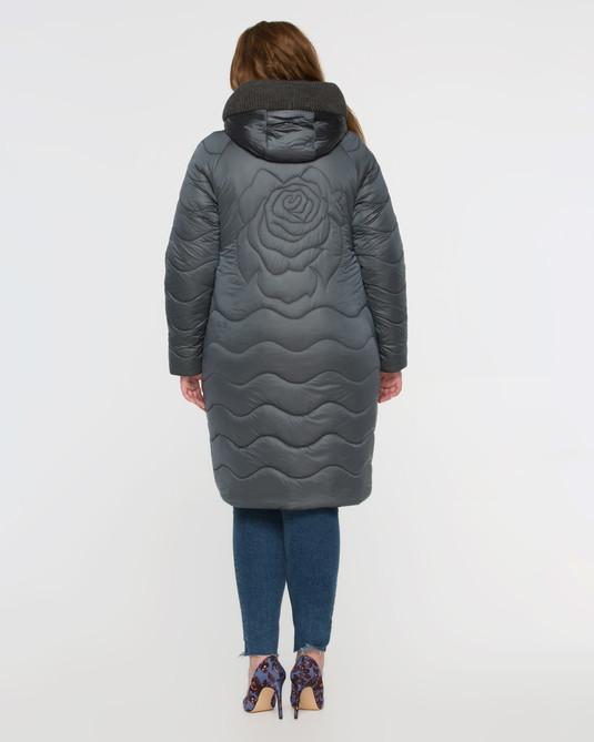 Куртка атласная серая