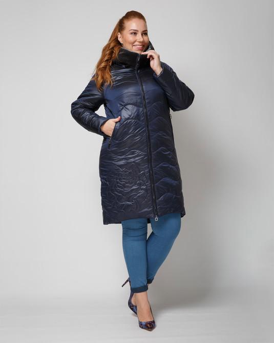 Куртка атласная синяя