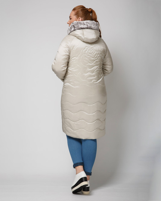Куртка атласная беж