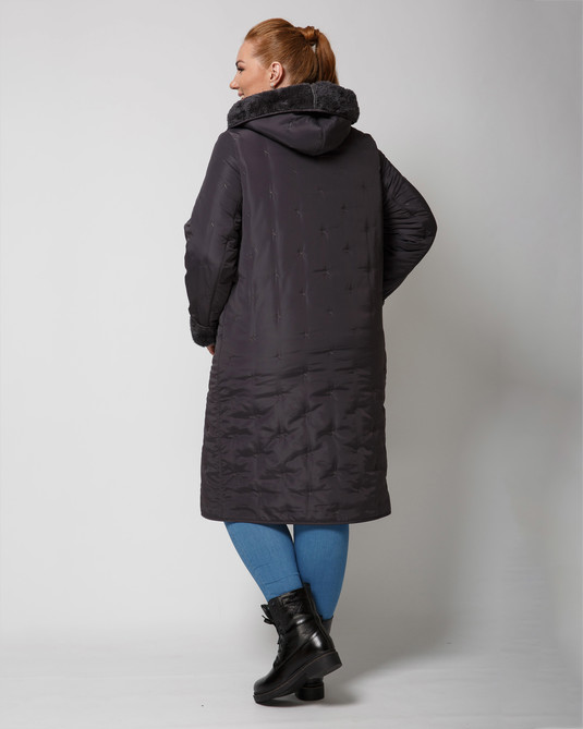 Куртка стеганная графит