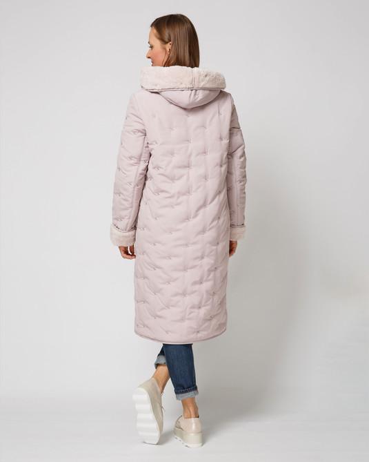 Куртка стеганная пудра