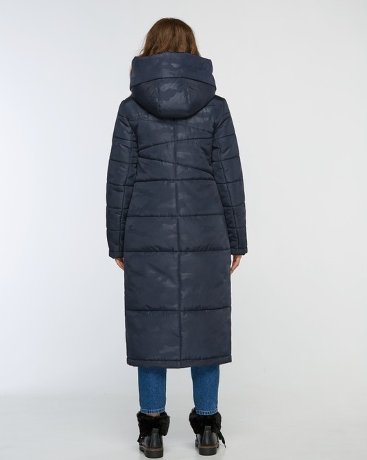 Куртка макси синяя