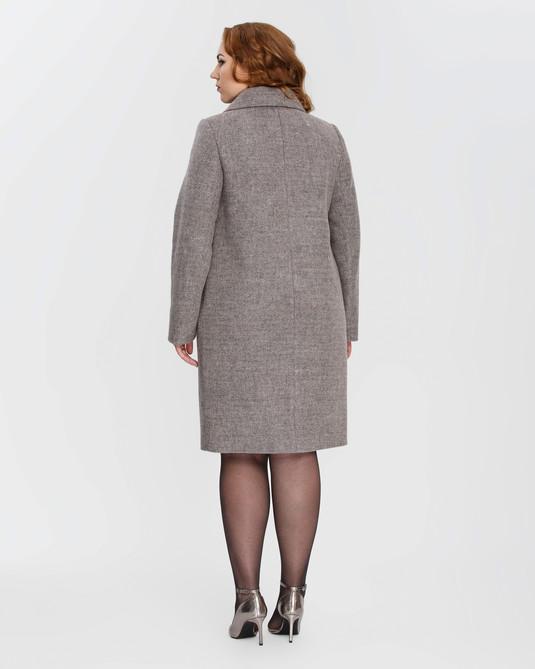 Пальто женское на молнии пудра