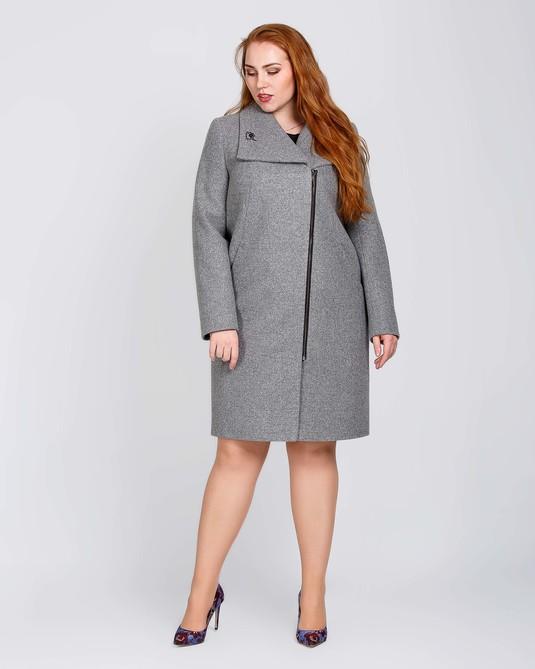Пальто женское на молнии темная полынь