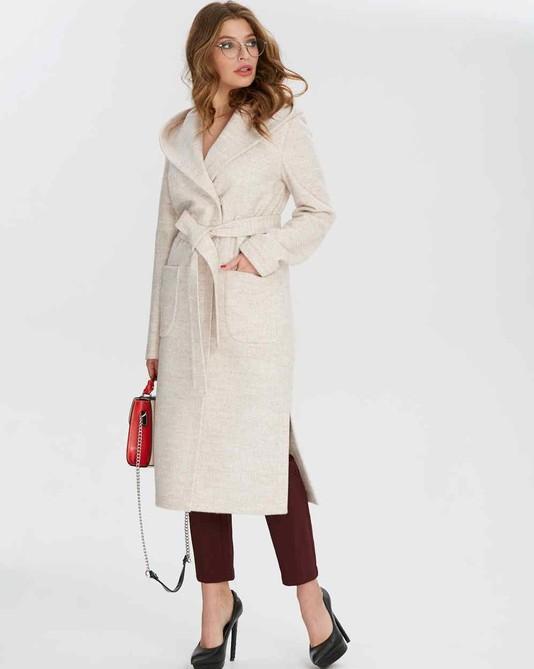Пальто без подкладки молочное