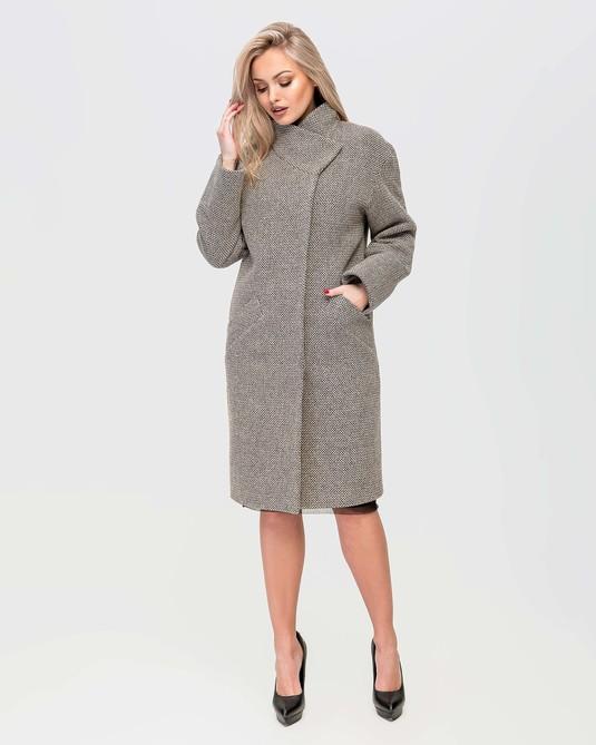 Пальто на запах беж