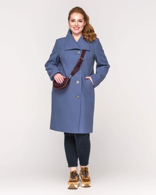 Пальто женское на пуговицах джинс