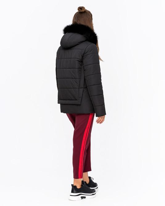 Куртка зимняя с мехом черный