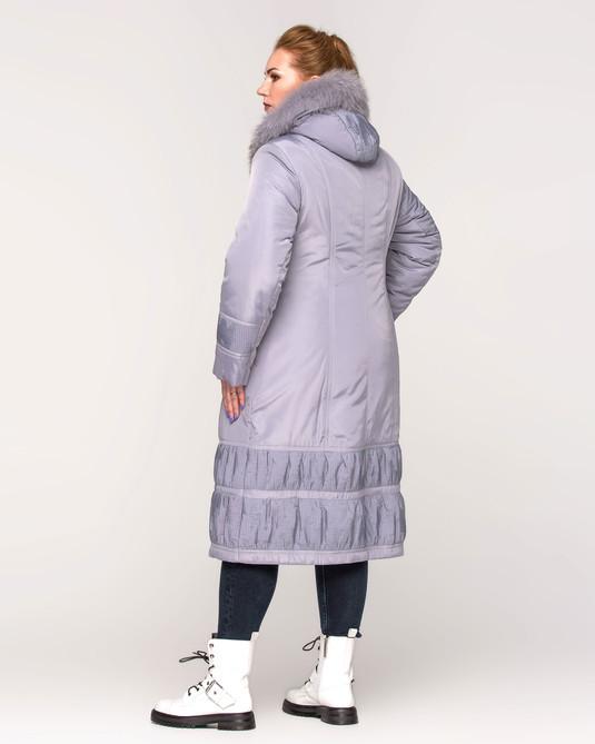 Куртка длинная с жаткой серая