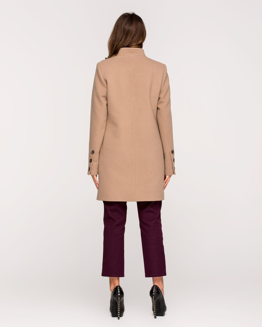 Пальто пиджак песочное