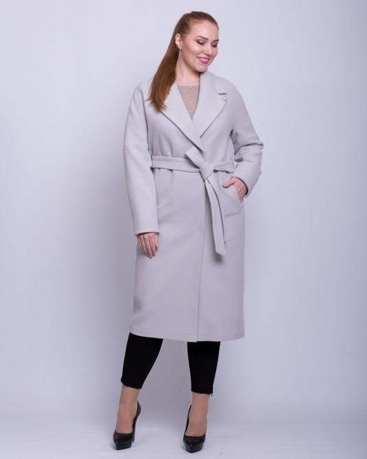 Пальто со спущенными рукавами серый