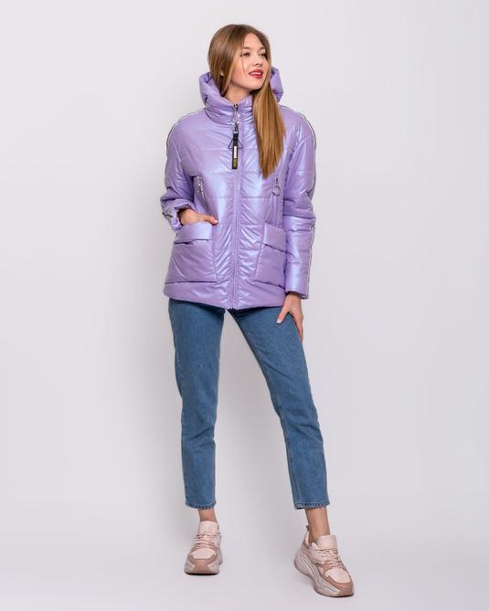 Куртка - съемный капюшон лиловая