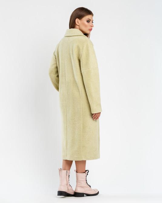 Пальто шерстяное фисташка