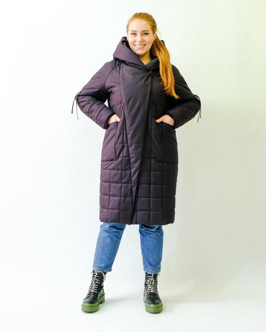 Зимняя меланжевая куртка слива