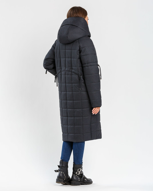 Зимняя меланжевая куртка графит