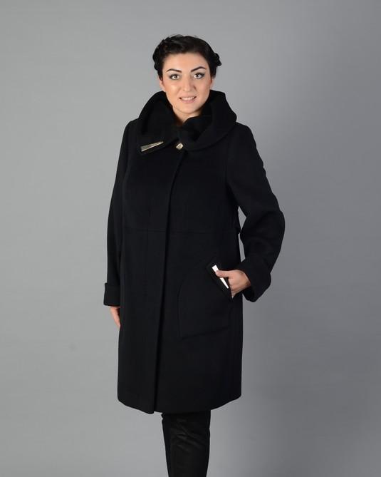 Пальто сваггер черное