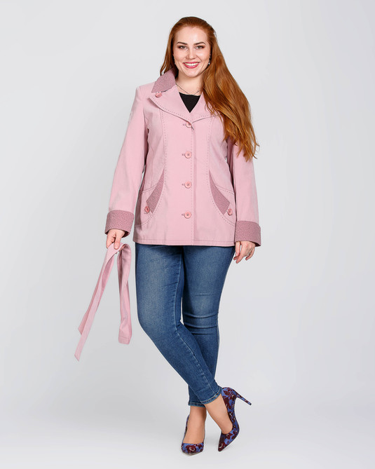 Жакет с жаткой розовый