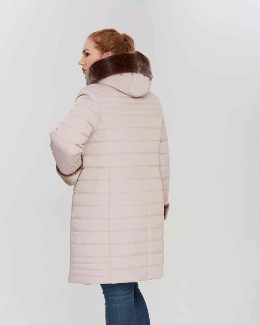 Куртка зимняя с капюшоном беж