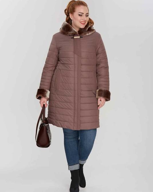Куртка зимняя с капюшоном розовый